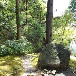Chaman : questionner l'esprit de la pierre (pierre sur une colline de Kyôto).